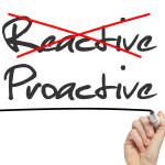 Proactive and Reactive handwritten